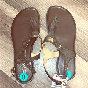 Michael Kors Logo Flat Sandals